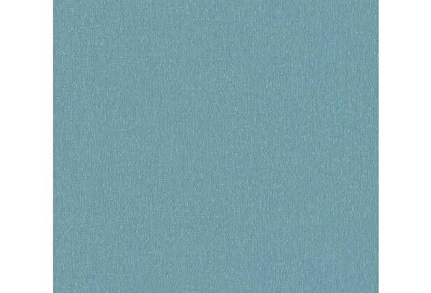 AS Création Vliestapete Emotion Graphic Tapete Uni blau 368821 10,05 m x 0,53 m