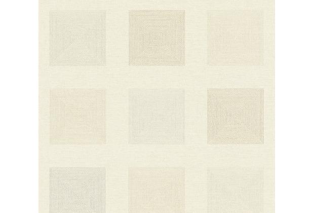 AS Création Vliestapete Ethnic Origin Tapete geometrisch grafisch metallic creme 371723 10,05 m x 0,53 m