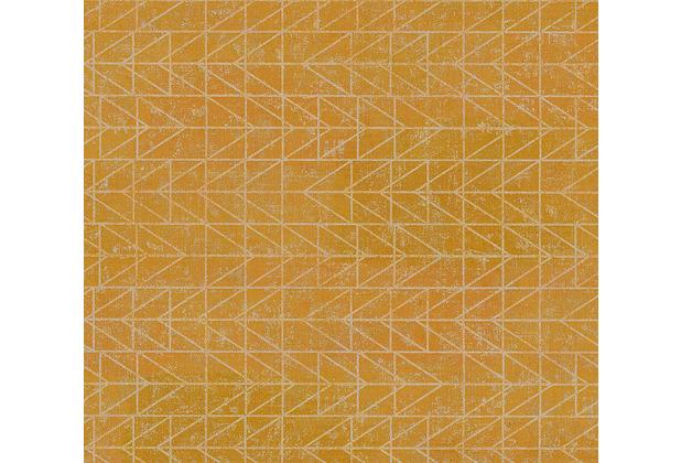 AS Création Vliestapete Ethnic Origin Tapete geometrisch grafisch metallic gelb 371743 10,05 m x 0,53 m