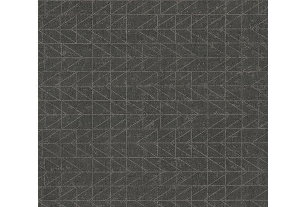 AS Création Vliestapete Ethnic Origin Tapete geometrisch grafisch metallic schwarz 371741 10,05 m x 0,53 m