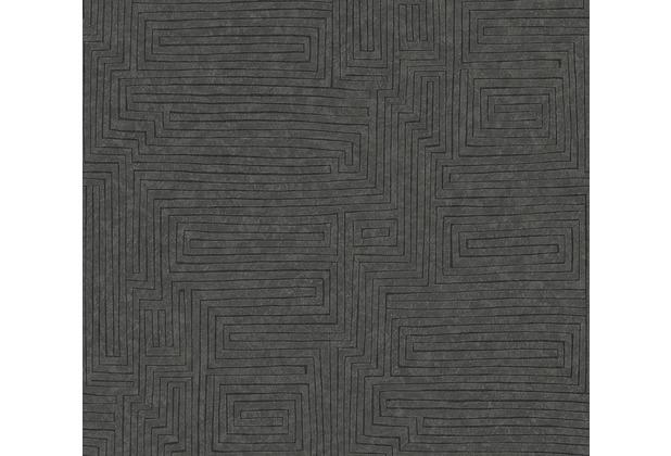 AS Création Vliestapete Ethnic Origin Tapete geometrisch grafisch schwarz braun 371713 10,05 m x 0,53 m