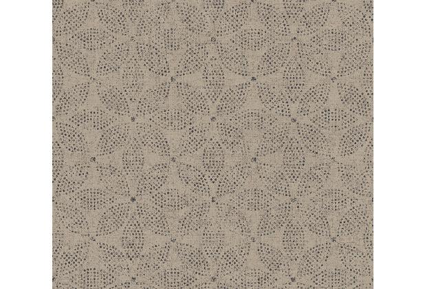 AS Création Vliestapete Ethnic Origin Tapete im Ethno Look grau beige schwarz 371764 10,05 m x 0,53 m
