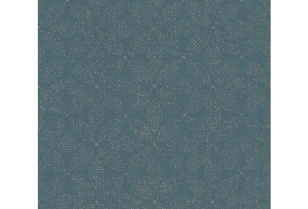 AS Création Vliestapete Ethnic Origin Tapete im Ethno Look metallic blau 371762 10,05 m x 0,53 m