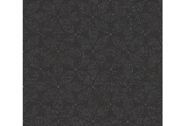AS Création Vliestapete Ethnic Origin Tapete im Ethno Look metallic schwarz 371763 10,05 m x 0,53 m