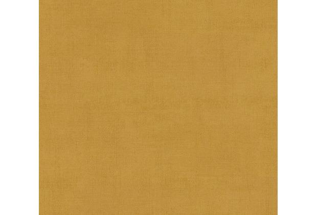 AS Création Vliestapete Ethnic Origin Tapete Uni gelb metallic 371754 10,05 m x 0,53 m