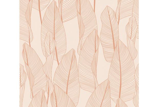 AS Création Vliestapete Exotic Life Tapete mit Blättern floral rosa 364973 10,05 m x 0,53 m