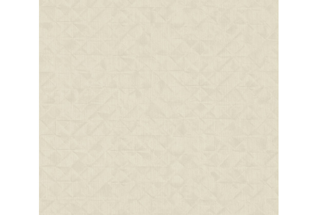 AS Création Vliestapete Exotic Life Tapete Uni geometrisch grafisch beige creme 372844 10,05 m x 0,53 m