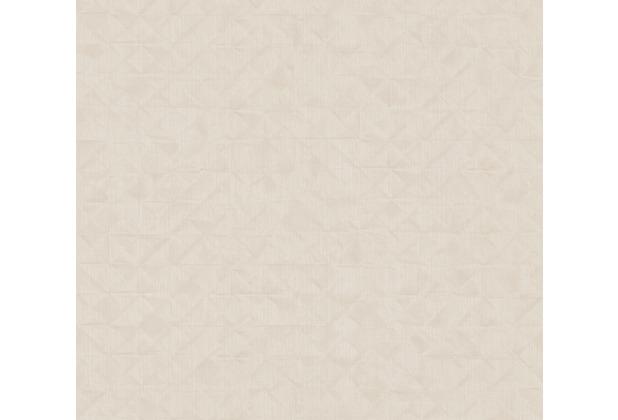 AS Création Vliestapete Exotic Life Tapete Uni geometrisch grafisch beige creme grau 372843 10,05 m x 0,53 m