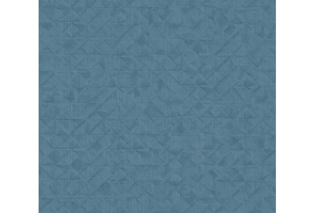 AS Création Vliestapete Exotic Life Tapete Uni geometrisch grafisch blau 372848 10,05 m x 0,53 m