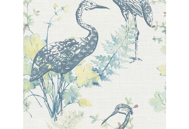 AS Création Vliestapete Four Seasons Tapete blau gelb rosa 360921 10,05 m x 0,53 m