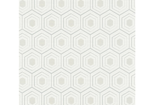 AS Création Vliestapete Four Seasons Tapete metallic grau weiß 358992 10,05 m x 0,53 m