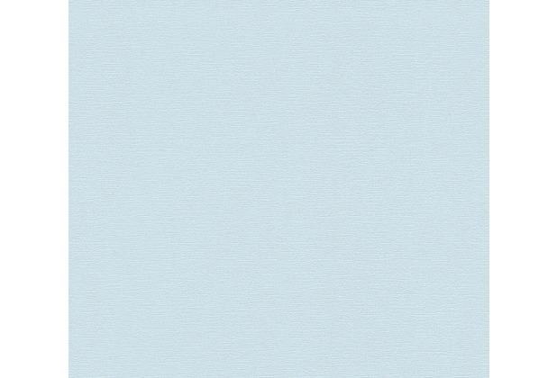 AS Création Vliestapete Greenery Tapete Uni blau 367135 10,05 m x 0,53 m