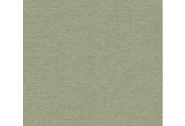 AS Création Vliestapete Greenery Tapete Uni grün 367137 10,05 m x 0,53 m