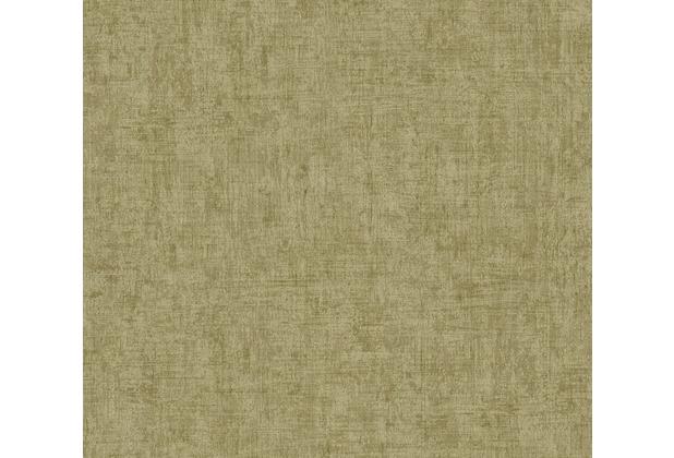 AS Création Vliestapete Greenery Tapete Uni in Vintage Optik grün 373344 10,05 m x 0,53 m