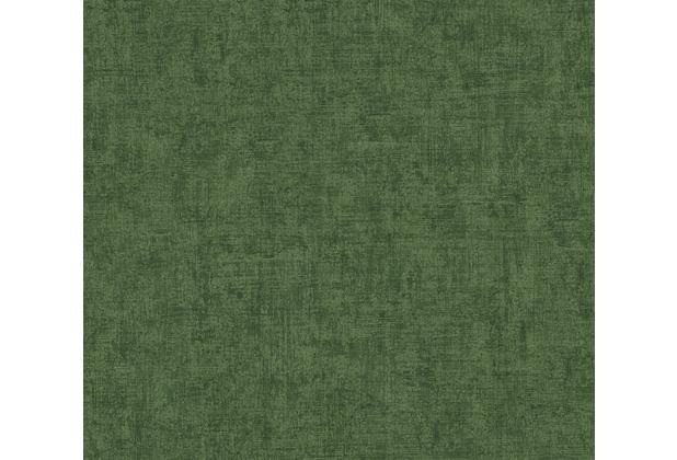 AS Création Vliestapete Greenery Tapete Uni in Vintage Optik grün 373347 10,05 m x 0,53 m