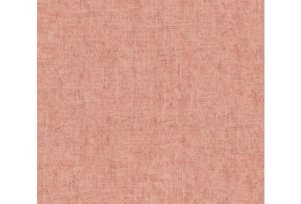 AS Création Vliestapete Greenery Tapete Uni in Vintage Optik rosa orange rot 373343 10,05 m x 0,53 m