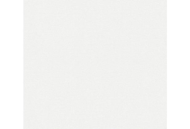 AS Création Vliestapete Greenery Tapete Uni weiß 10,05 m x 0,53 m