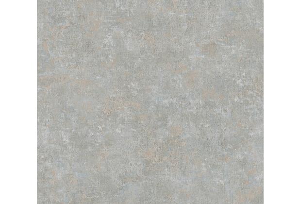 AS Création Vliestapete History of Art Unitapete blau grau braun 376557 10,05 m x 0,53 m