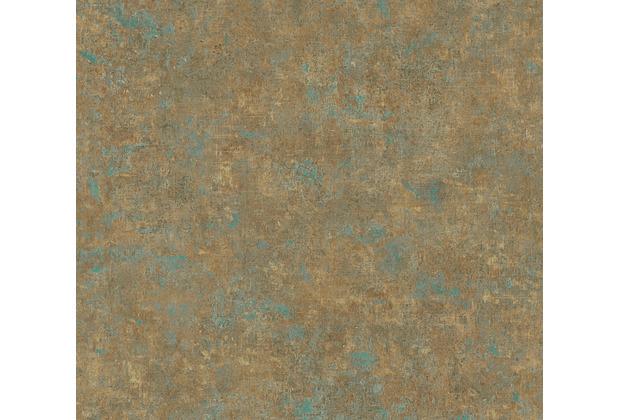 AS Création Vliestapete History of Art Unitapete bronze petrol braun 376559 10,05 m x 0,53 m