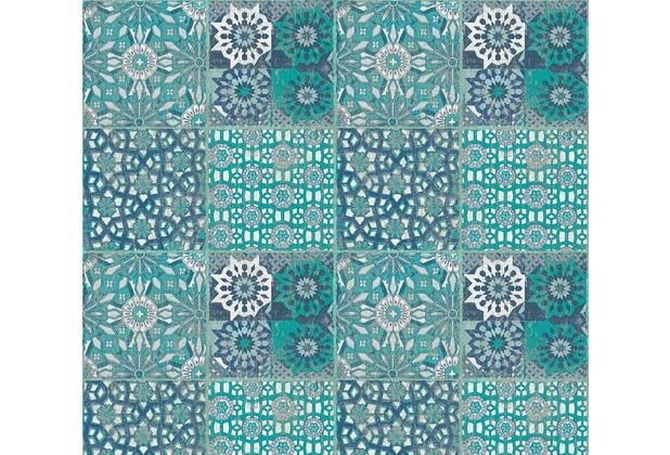AS Création Vliestapete Il Decoro Tapete in mediterraner Fliesen Optik blau grau grün 368953 10,05 m x 0,53 m