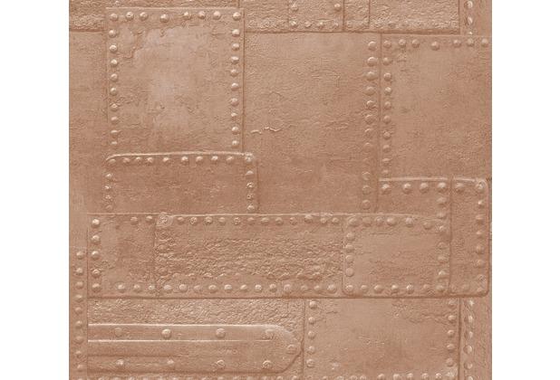 AS Création Vliestapete Il Decoro Tapete in Metall Optik braun metallic 364942 10,05 m x 0,53 m