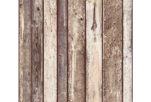 AS Création Vliestapete Il Decoro Tapete in Vintage Holz Optik beige braun grau 362822 10,05 m x 0,53 m