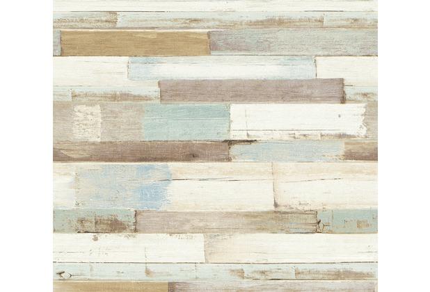 AS Création Vliestapete Il Decoro Tapete in Vintage Holz Optik blau braun weiß 368571 10,05 m x 0,53 m