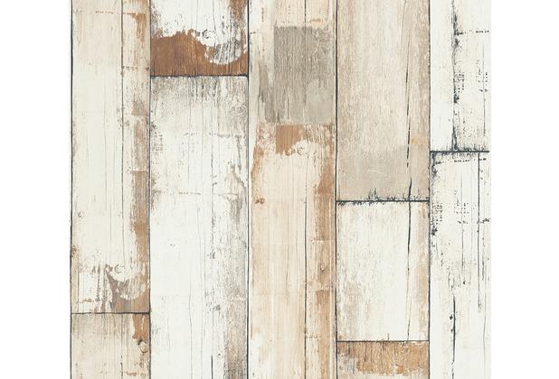 AS Création Vliestapete Il Decoro Tapete in Vintage Holz Optik braun creme weiß 368941 10,05 m x 0,53 m