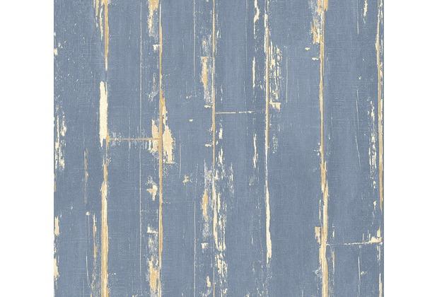 AS Création Vliestapete Il Decoro Tapete in Vintage Optik blau braun 368563 10,05 m x 0,53 m