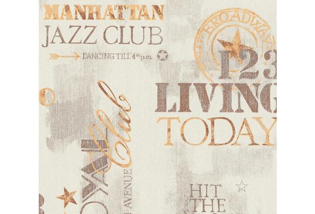 AS Création Vliestapete Il Decoro Tapete New York City metallic beige braun 368123 10,05 m x 0,53 m
