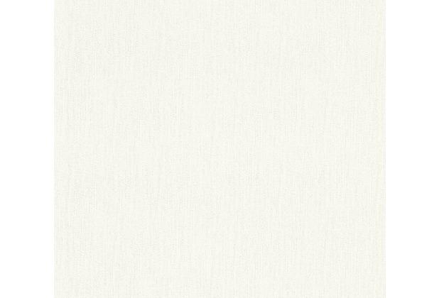 AS Création Vliestapete Il Decoro Tapete Uni weiß 366881 10,05 m x 0,53 m