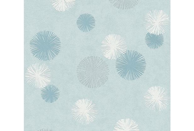 AS Création Vliestapete Life 4 Tapete blau metallic weiß 356073 10,05 m x 0,53 m