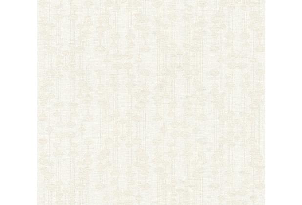 AS Création Vliestapete Life 4 Tapete metallic weiß 356903 10,05 m x 0,53 m