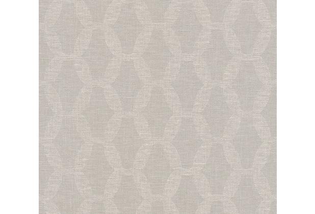 AS Création Vliestapete Linen Style Tapete geometrisch grafisch beige grau rosa 366383 10,05 m x 0,53 m