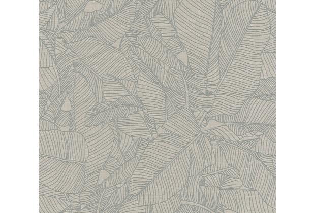 AS Création Vliestapete Linen Style Tapete mit Blätter Muster beige grau 366332 10,05 m x 0,53 m