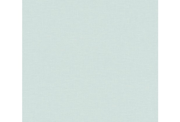AS Création Vliestapete Linen Style Tapete Uni blau 366343 10,05 m x 0,53 m