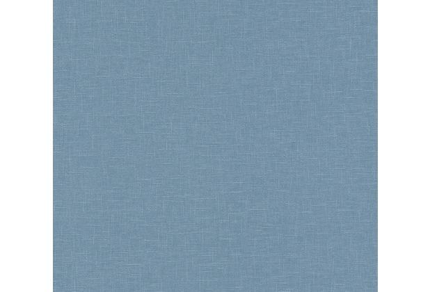 AS Création Vliestapete Linen Style Tapete Uni blau 366348 10,05 m x 0,53 m