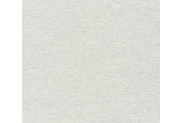 AS Création Vliestapete Linen Style Tapete Uni creme weiß 366341 10,05 m x 0,53 m