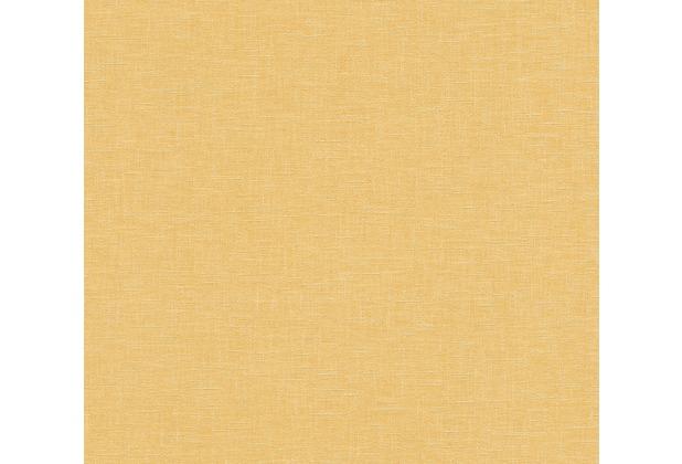 AS Création Vliestapete Linen Style Tapete Uni gelb 366345 10,05 m x 0,53 m