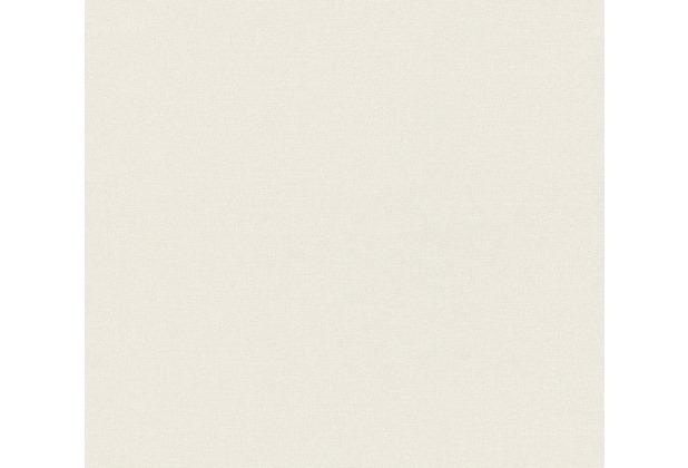 AS Création Vliestapete Linen Style Tapete Uni weiß 367611 10,05 m x 0,53 m