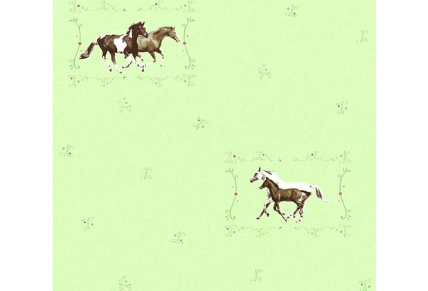 AS Création Vliestapete Little Stars Ökotapete PVC-frei bunt grün 358371 10,05 m x 0,53 m