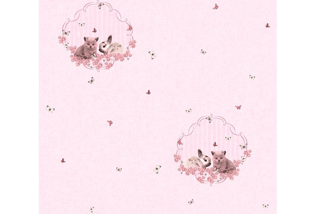 AS Création Vliestapete Little Stars Ökotapete PVC-frei bunt rosa 355641 10,05 m x 0,53 m