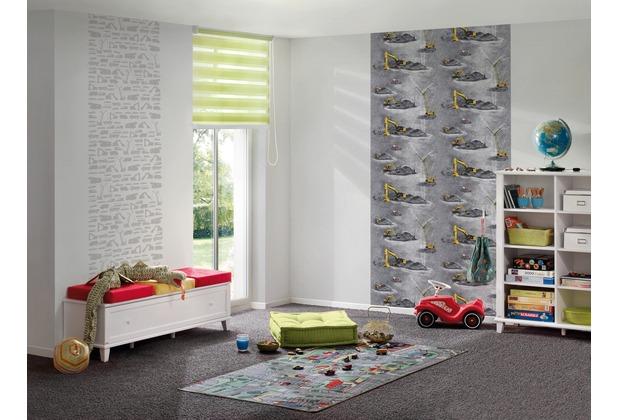AS Création Vliestapete Little Stars Ökotapete PVC-frei gelb grau schwarz 10,05 m x 0,53 m