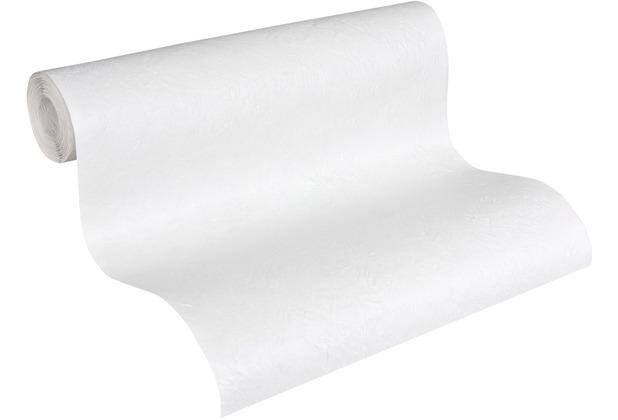 AS Création Vliestapete Meistervlies Strukturtapete überstreichbar weiß 141415