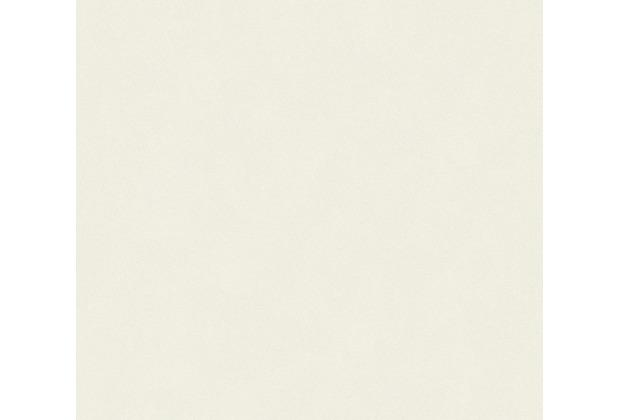 AS Création Vliestapete mit Glitter Trendwall Tapete Uni beige metallic weiß 369086 10,05 m x 0,53 m
