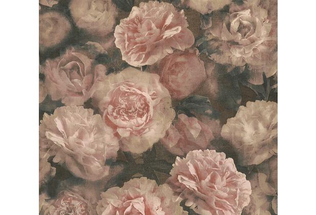 AS Création Vliestapete Neue Bude 2.0 Edition 2 Romantic Flowery rot schwarz rosa 374022 10,05 m x 0,53 m