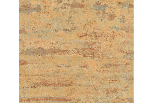 AS Création Vliestapete Neue Bude 2.0 ED 2 Tapete Stones & Structure orange grau blau 374151 10,05 m x 0,53 m