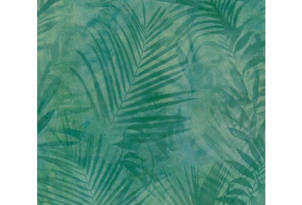 AS Création Vliestapete Neue Bude 2.0 Edition 2 Tropical Concret grün blau gelb 374112 10,05 m x 0,53 m