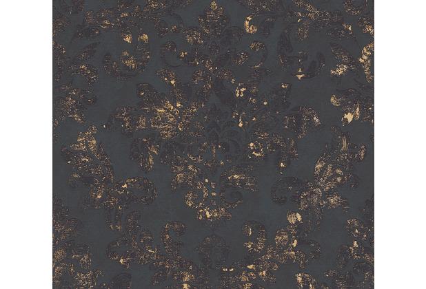 AS Création Vliestapete Neue Bude 2.0 Edition 2 Used Glam barock schwarz metallic 374132 10,05 m x 0,53 m