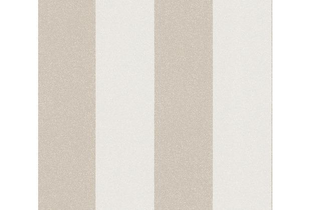 AS Création Vliestapete New Elegance Blockstreifentapete beige creme 375543 10,05 m x 0,53 m